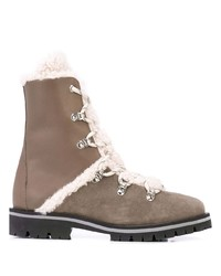 Yves Salomon Shearling Lace Up Boots