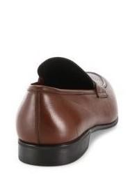 5b425fcc36b ... Salvatore Ferragamo Fiorino 2 Textured Leather Penny Loafers