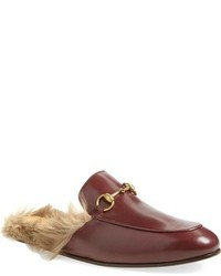 Gucci Princetown Genuine Kangaroo Fur Lined Loafer