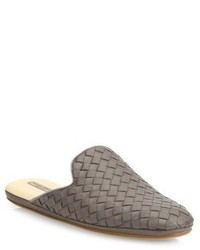 Bottega Veneta Intrecciato Leather Loafer Slides