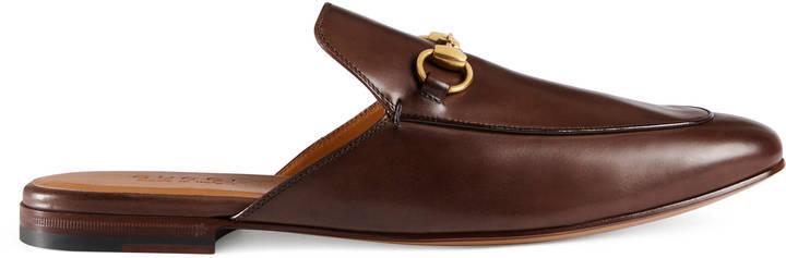 a2d1a378444e ... Gucci Leather Horsebit Slipper ...