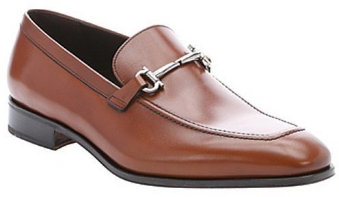 47cb866b3ef ... Salvatore Ferragamo Light Brown Leather Fenice Gancini Horsebit Detail  Loafers