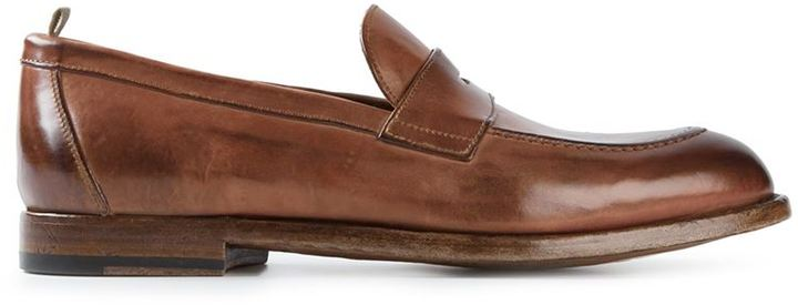 Officine creative Distressed penny loafers ydeAxAt