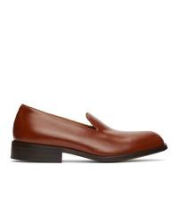 Dries Van Noten Tan Leather Loafers