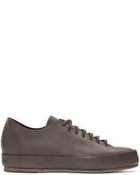 Brown leather sneakers medium 817644