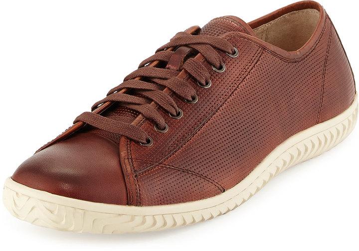 ... John Varvatos Hattan Low Top Leather Sneaker Brown ...