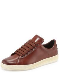 Russel leather low top sneaker brown medium 453075