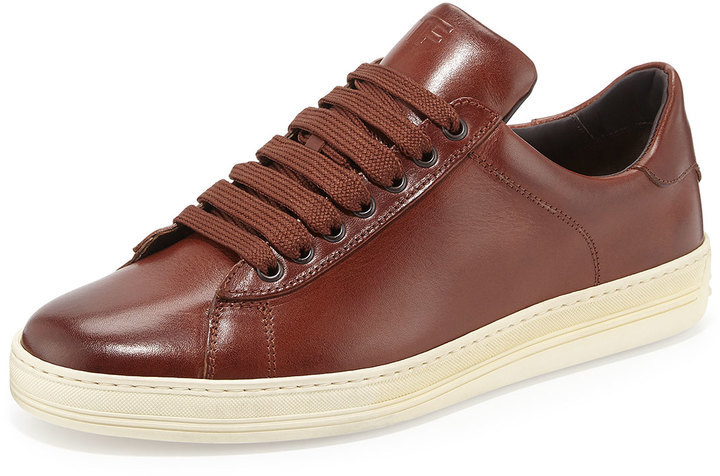 tom ford russel leather low top sneaker brown | where to buy & how