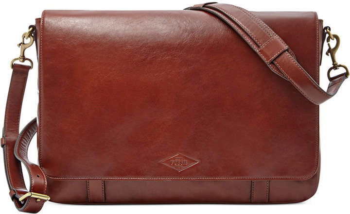 Fossil Aiden Leather Messenger Bag | Where to buy & how to wear