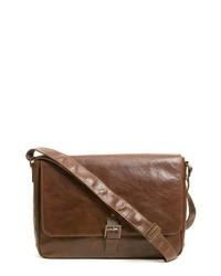 Boconi Becker Leather Messenger Bag