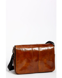 Bosca leather messenger bag amber one size medium 316524