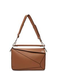 Loewe Brown Large Puzzle Edge Messenger Bag