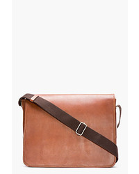 A.P.C. Brown Leather Messenger Bag