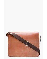A.P.C. Brown Leather Messenger Bag