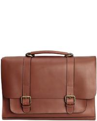 H&M Leather Messenger Bag Tawny Brown