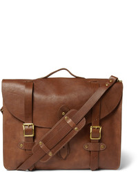 J.Crew Montague Distressed Leather Satchel