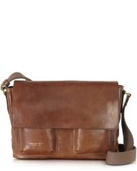 Sfoderata marrone leather messenger w pockets medium 703981