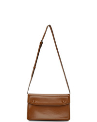 Maison Margiela Tan Patent Accordion Messenger Bag