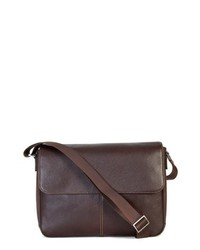 Boconi Tyler Leather Messenger Bag