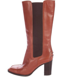 Leather mid calf boots medium 3665152