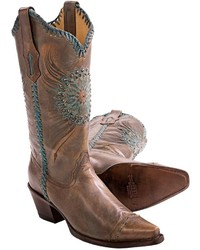 Modelcurrentbrandname Corral Boots Medallion And Crystals Cowboy Boots X Toe