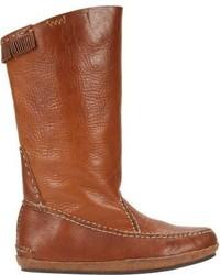 Visvim Nakota Moccasin Boots Grey