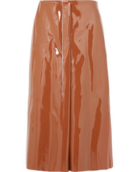 Marni Faux Patent Leather Midi Skirt
