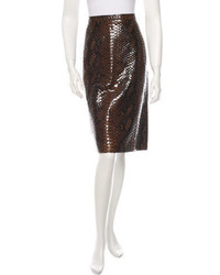 Burberry Prorsum Embossed Midi Skirt W Tags