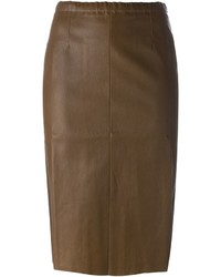 Stouls leather pencil skirt medium 354178