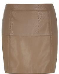 Brown snake print pelmet skirt medium 372317