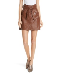 Nanushka Chai Faux Leather A Line Skirt