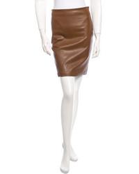 The Row Leather Mini Skirt W Tags