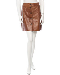 Prada Leather Skirt