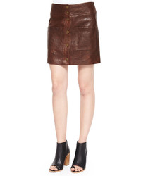 Patrol cargo leather mini skirt medium 372301