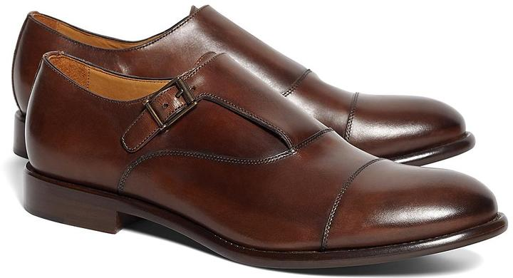 Single Monk Strap. Brown Leather Monks by Brooks Brothers f6c9dbdc290