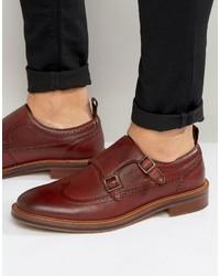 Aldo Horevia Leather Brogue Monk Shoes