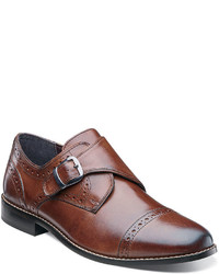 Nunn Bush Newton Monk Strap Cap Toe Leather Dress Shoes