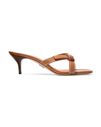Paul Andrew Forget Me Knot Leather Mules