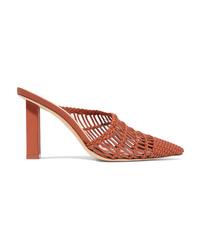 Cult Gaia Raya Woven Leather Mules