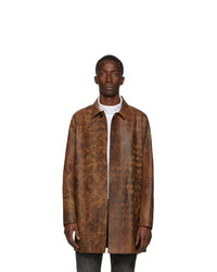 Brown Leather Overcoat