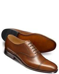 Charles Tyrwhitt Brown Carlton Toe Cap Oxford Shoes