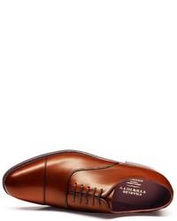 Charles Tyrwhitt Brown Heathcote Calf Leather Toe Cap Oxford Shoes