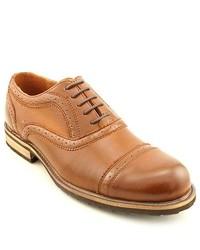 Steve Madden Partizen Brown Wingtip Leather Oxfords Shoes