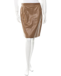 Valentino Leather Pencil Skirt