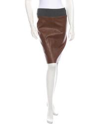 Brunello Cucinelli Leather Skirt