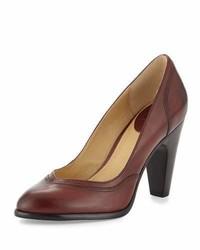Frye Celeste Leather Pump Dark Brown