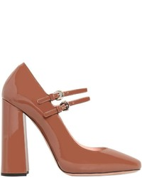Rochas 110mm Patent Leather Mary Jane Pumps