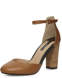 Dorothy Perkins Tan High Open Court Shoes