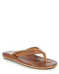 Frye Brent Leather Thong Sandals