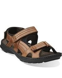 Clarks Swing Part Tan Leather Sandals